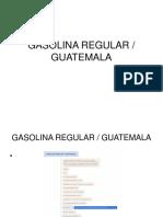 Gasolina Regular Guatemala