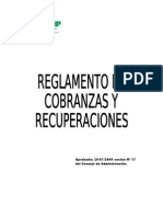 Reglamento de Cobranzas y Recuperacion