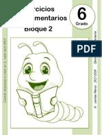 B2 6to Grado - Bloque 2 - Ejercicios Complementarios