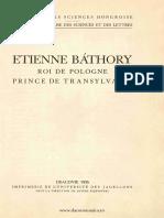 Etienne Báthory roi de Pologne, prince de Transylvanie