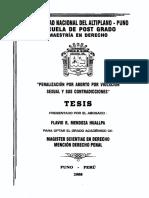 Penalización Por Aborto de Violación y Sus Contradicciones_UNA