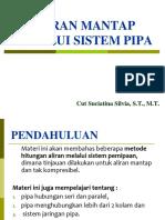 7-8 ALiran Mantap (Steady Flow) Melalui Sistem Pipa