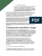 Contaminación atmosferica