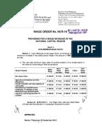 Wage Orders NCR 18-20