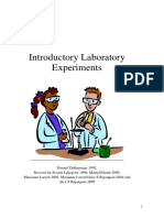 Introductory to Biochemistry Laboratory