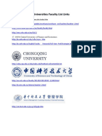 Chines Universities Faculty List for Management sciences