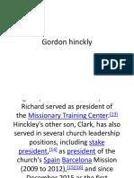 Gordon Hinckly