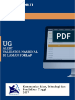 User Guide - Alert Validator Nasional Di Laman Forlap