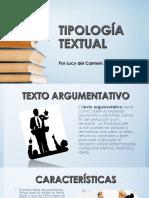 Tipología Textual.targumentativo