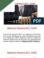 Regímenes Tributarios 2017 - SUNAT