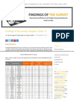 Findings of the Survey by TCI and IIM Calcutta