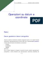 Datum Geodetico e Datum Cartografico (Opdat