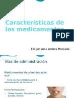 Características de  los medicamentos