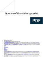 Quoram of the Twelve Apostles