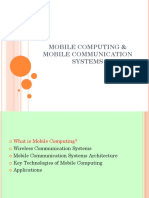 Mobile Computing and Mobile Communication Systems - Mobile Computing