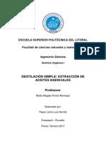 Informe 2 - Destilacion Simple
