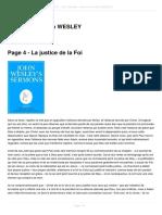 La Justice de La Foi