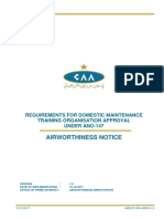Awnot-093-Awrg-1 0 Requirements for Domestic Maintenance Training Organisation Approval Under _147 Date of Issue 15 10 2017