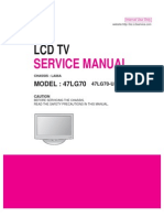 LCD TV 47LG70 Service Manual