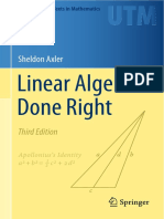 Axler - Linear Algebra Done Right 3rd Edition