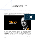 Ray Kroc Net Worth, Mcdonalds Wiki, Richard and Maurice McDonald