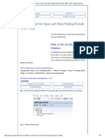 Define Variant for Open and Close Posting Periods _ SAP OB52 - SAP Training Tutorials