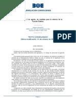 Ley 30-1984 2 Agosto de Medidas Para La Reforma de La Función Publica-consolidado