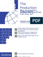 ECON 1012- Production