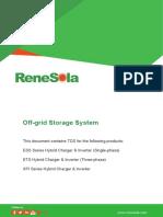 Off-grid Storage System