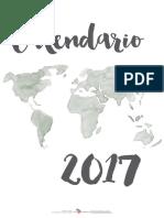 Calendario 2017 New 1 Ene