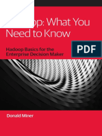 Hadoop What You Need to Know