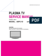 Lg Tv Plasma 60pc1d 60pc1d Service Manual