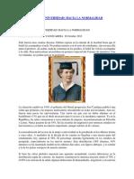 Mujeres en La Universidad.