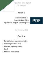 Kuliah6 Regiongrowing Watershed