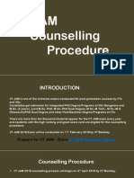 IIT JAM Counselling Procedure