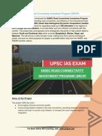 Current Affairs for IAS Exam (UPSC Civil Services) | Sasec road connectivity investment program (srcip) - Best Online IAS Coaching by Prepze