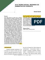 ACIOLI, Sonia. Redes Sociais e Teoria Social- Revendo Os Fundamentos Do Conceito