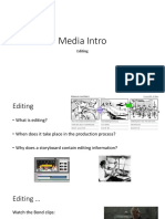 Media Intro - Editing