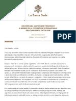 Papa Francesco 20171104 Federazione Universita Cattoliche