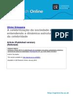 Celebritização Da Sociedade_Driessens_Celebritização Da Sociedade_2015