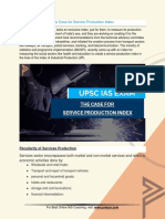 Current Affairs for IAS Exam (UPSC Civil Services) | The case for service production index | Best Online IAS Coaching by Prepze