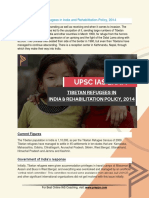 Current Affairs for IAS Exam (UPSC Civil Services) | tibetan refugees in india and rehabilitation policy, 2014 | Best Online IAS Coaching by Prepze