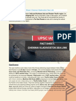 Current Affairs for IAS Exam (UPSC Civil Services) | Fact sheet chennai-vladivostok sea link - Best Online IAS Coaching by Prepze