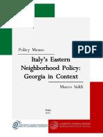 Italy's Eastern Neighborhood Policy