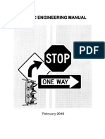 Traffic Engineering Manual Revised July 2011