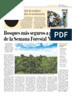 Bosques Más Seguros a Propósito de La Semana Forestal Nacional