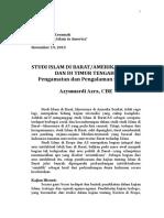 Studi Islam Di Barat Dan Di Timur Tengah