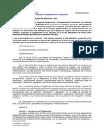 Reglamento de Placa Unica Nacional y Rodaje