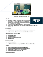 Chemical Spill Kit Contents