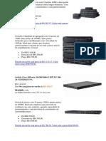 Switch de Acesso Compacto Com 24 Portas 1GbE e Duas Portas de Fibra de 1GbE